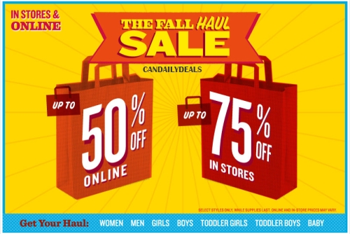 a5fb0a5d0804 Canadian Daily Deals  Old Navy Canada  Fall Haul Sale Up ..