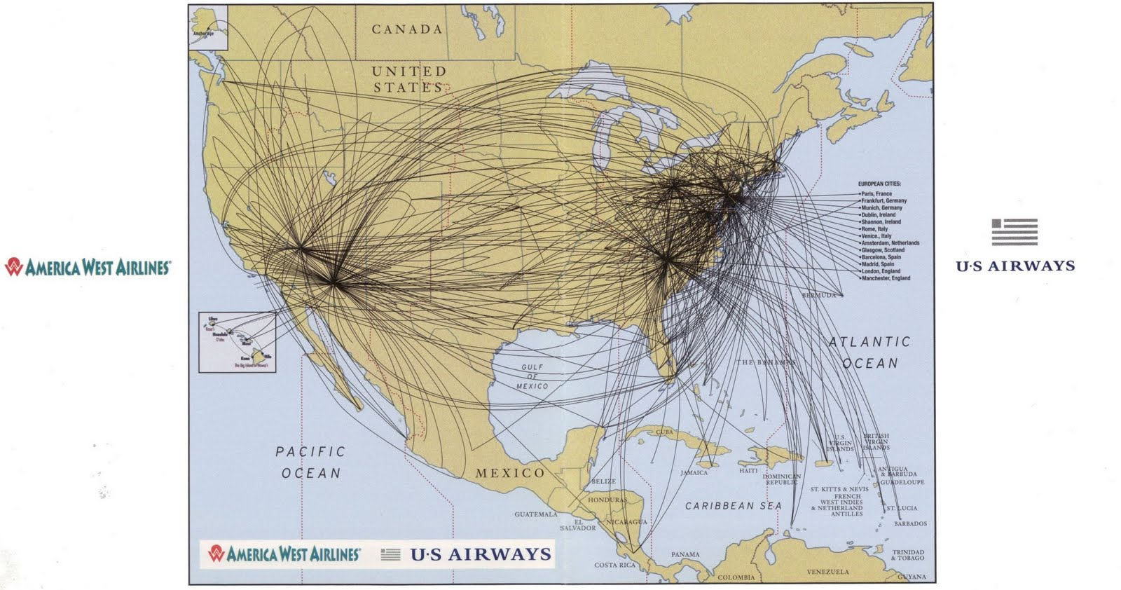 Air Lines Route Map North America From Cincinnati Route Map Air - Airline flights map of france to us