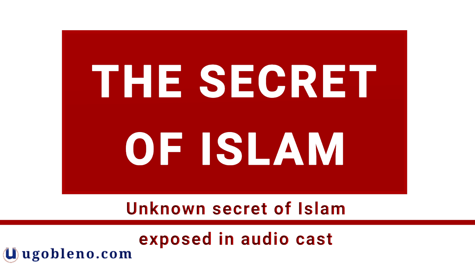 The greatest secret of Islam is revealed, disclosing the untold stories of Muslim and their top secrets. Several generations of Islamists Muslim have developed the historical-critical study of the Koran and the origin of Islam, obtaining different results from traditional Muslim historiography. The great secret of Islam is unknown to Muslims and Christians as well.