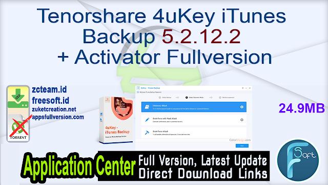 Tenorshare 4uKey iTunes Backup 5.2.12.2 + Activator Fullversion