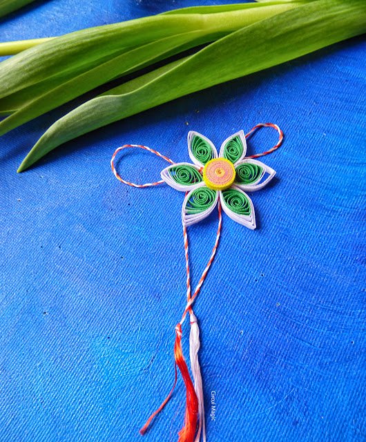 Narcisa Circul Magic Quilling Hartie - Martisoare Handmade