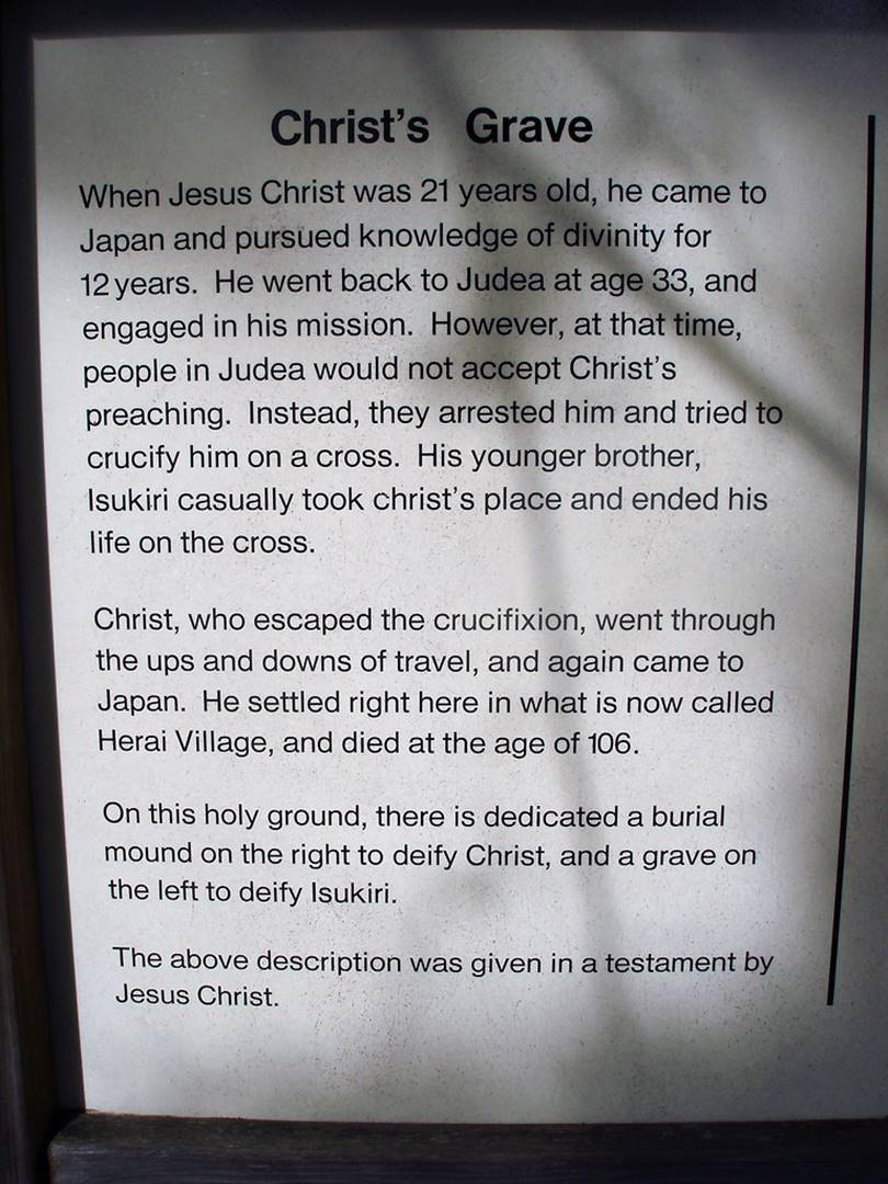 Jesus first went to Japan at the age of 21 to study theology