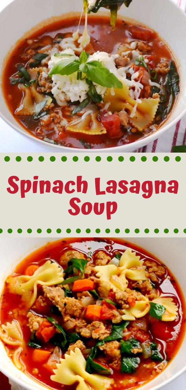 healthy recipes  spinach lasagna soup  delicious pin it