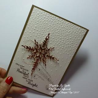 Star of Light Christmas Card in Copper Foil