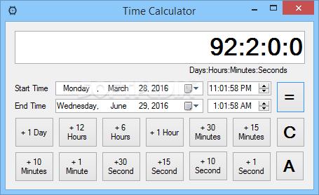 تحميل برنامج حساب الوقت بالساعات والدقائق والثواني Time Calculator 1.0.0.0