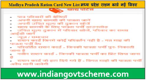 Madhya Pradesh Ration Card