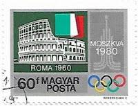 Selo Jogos Olímpicos e  o Coliseu de Roma