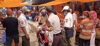 Patroli Pasar Sudu Bhabinkamtibmas Polsek Alla Bersama Tim Gabungan Himbauan Kamtibmas Dan Protokol Kesehatan