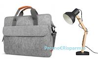 Logo Vinci gratuitamente  borsa sleeve per laptop e una lampada Tomons