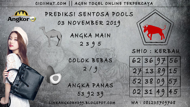 PREDIKSI SENTOSA POOLS 03 NOVEMBER 2019