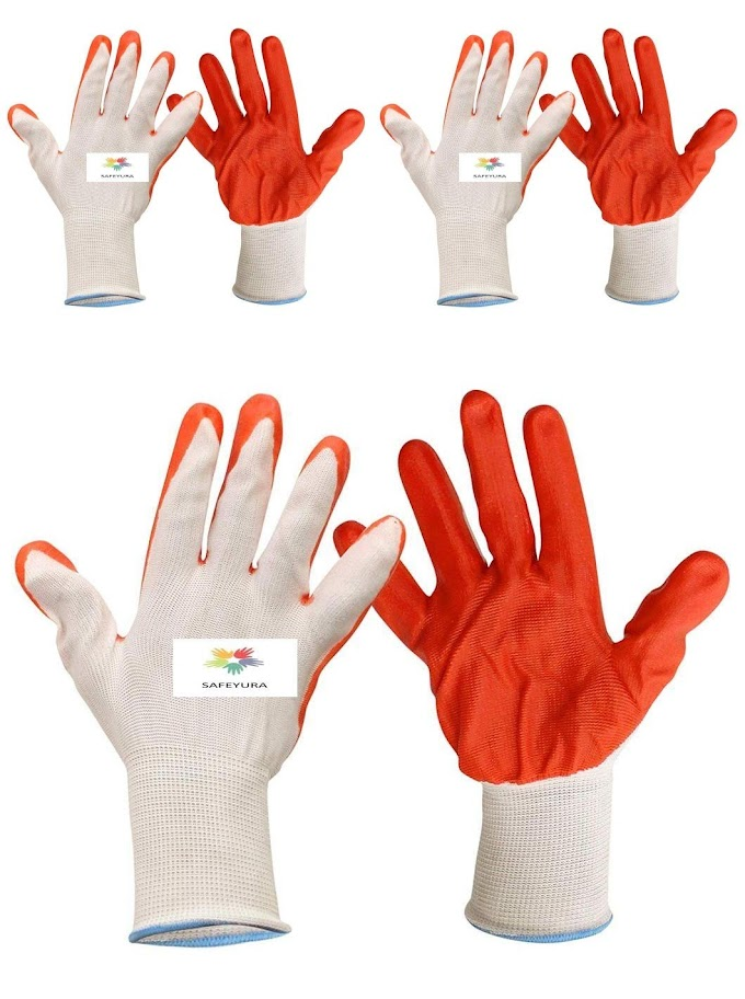 Rs,249/-  Click to open expanded view SAFEYURA Reusable Cut Resistant Gardening Gloves (Orange) -3 Pairs