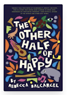 Cover image of The Other Half of Happy. There are lots of brightly colored flowers and designs, but there is also a guitar & manatee there.