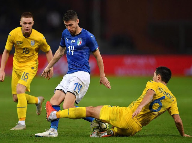 Hasil Laga Uji Coba: Italia vs Ukraina Sama Kuat