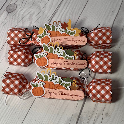 Thanksgiving Treat Holders made with Stampin' Up! Paper Pumpkin