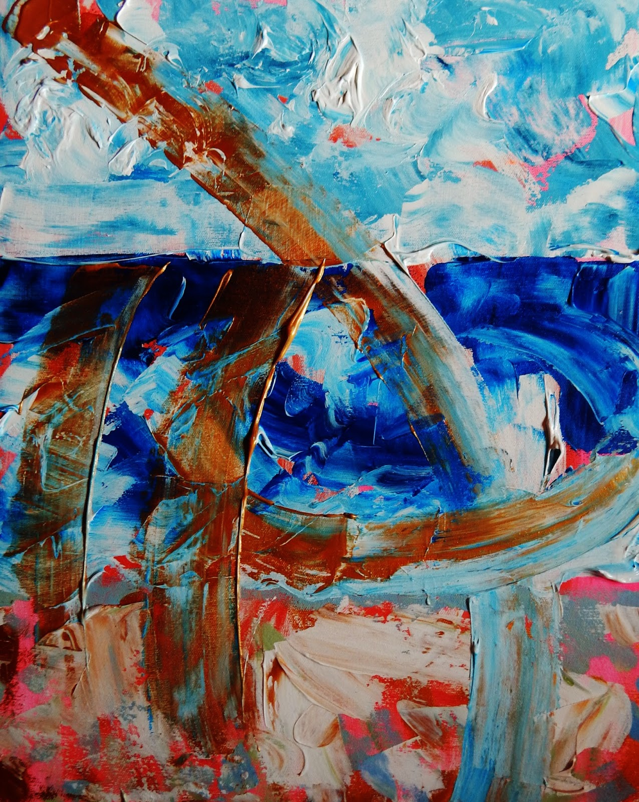 Patti Friday: Beach Landscape Abstract Paintings: Organic