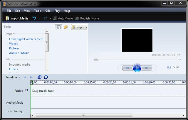 Software belajar edit video bagi pemula