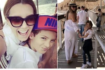 Elizabeth Gutiérrez se diverte com seus filhos em Israel