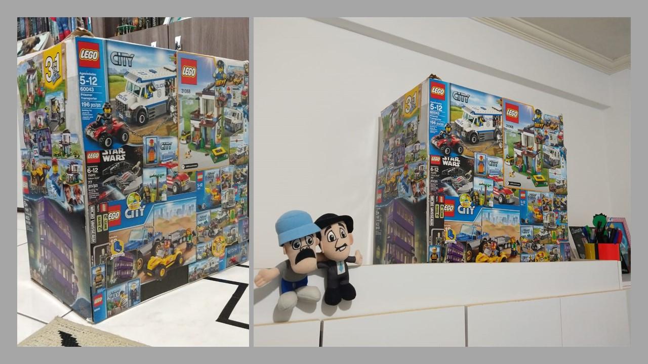 caixa ventilador personalizada lego