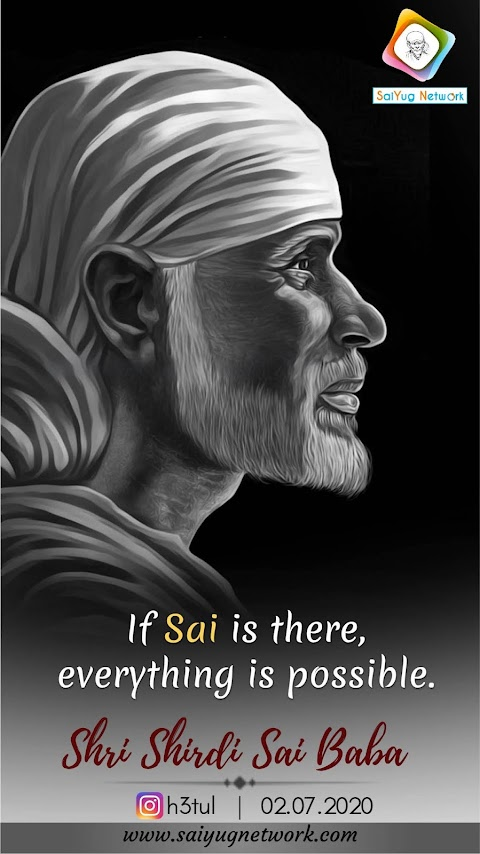 Everything Is Possible - Sai Baba Face Painting Image