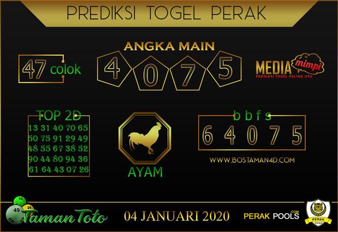 Prediksi Togel PERAK TAMAN TOTO 04 JANUARI 2020