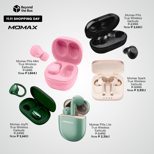 Momax Wireless Earbuds Beyond The Box 11.11
