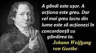 Maxima zilei: 22 martie - Johann Wolfgang von Goethe