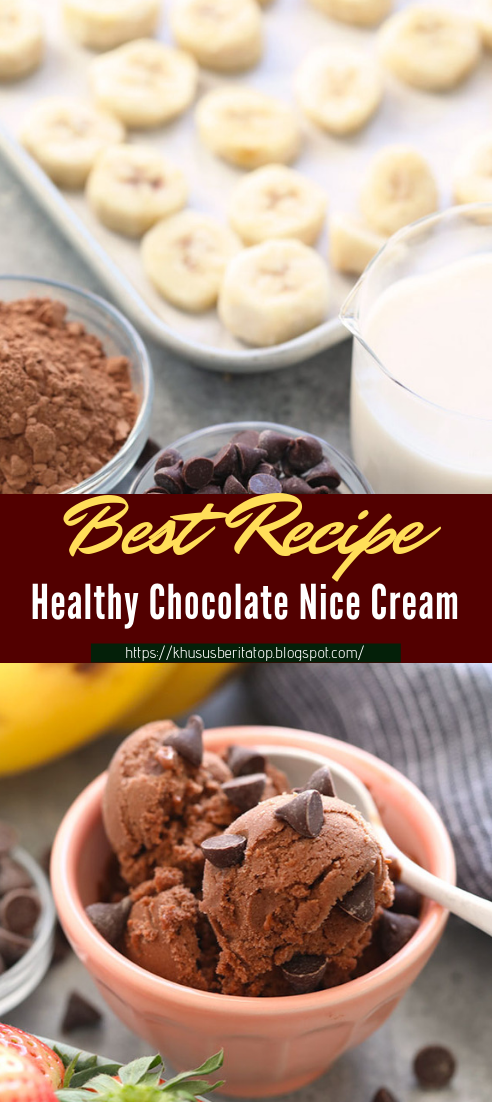 Healthy Chocolate Nice Cream #desserts #cakerecipe #chocolate #fingerfood #easy