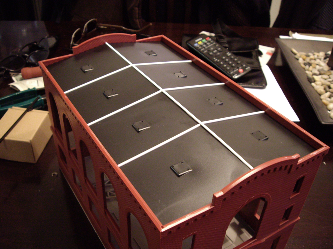 Northern Light & Power kit roof panel modifications with strip styrene