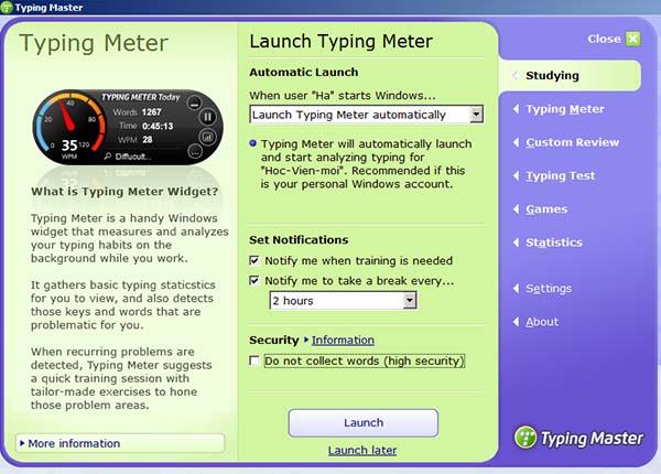 Tải Typing Master - Phần mềm tập đánh máy 10 ngón, luyện gõ bàn phím b
