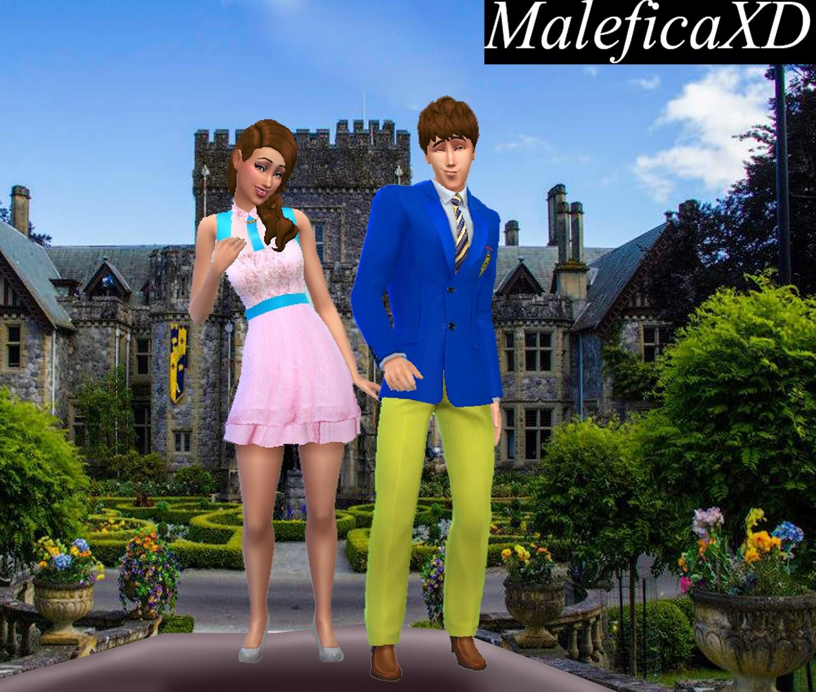 Maleficaxd Sims 4 Disney Los Descendientes Ropa De Audrey Y Ben