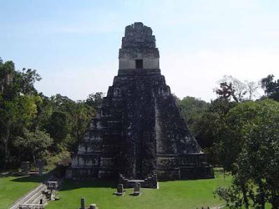 Tikal Mayan Pyramid in Guatemala
