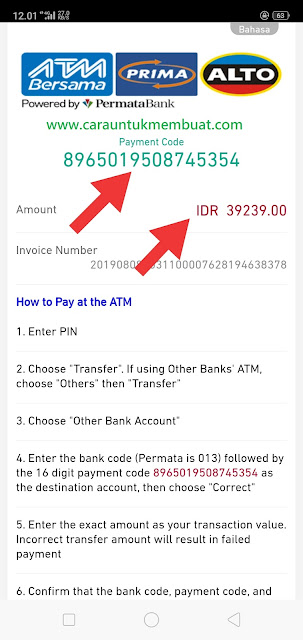 No Rekening Bank Permata