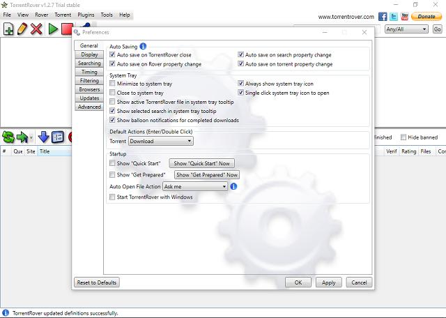 تحميل برنامج TorrentRover 1.2.7 لتحميل جميع ملفات التورنت