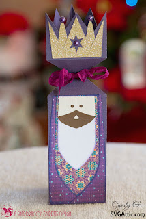 Wise man cracker box - purple