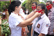 TP PKK Sulut Turun ke Sekolah dan Panti Asuhan Bagikan Masker