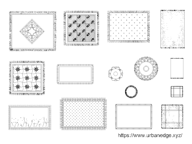 Carpets dwg cad blocks model download - 15+ cad blocks