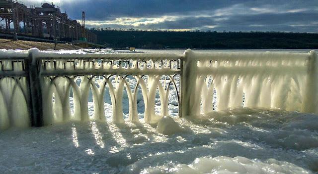 Зима Дубоссары Днестр ГЭС
