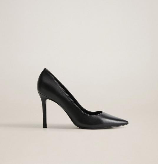 Pantofi negri stiletto cu toc subtire din colectia Mango