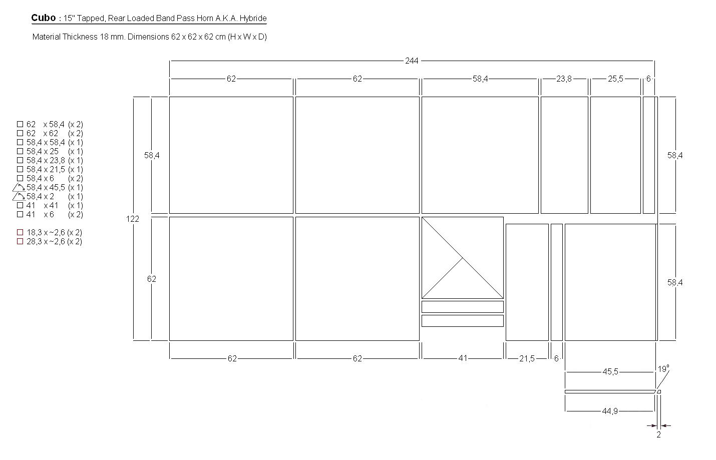 Cubo 15 box speaker standard