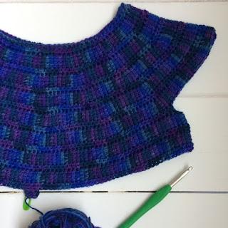 A progress shot of my Luna top