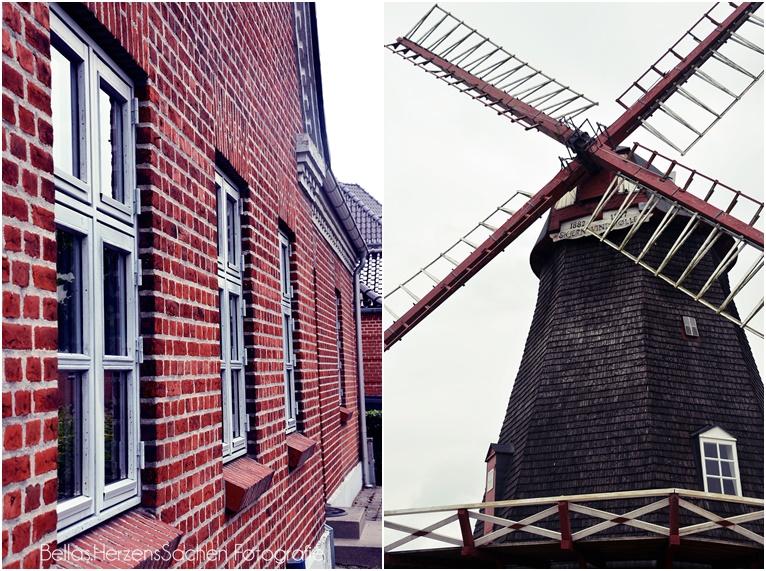 typisch Dänemark Backstein Windmühle