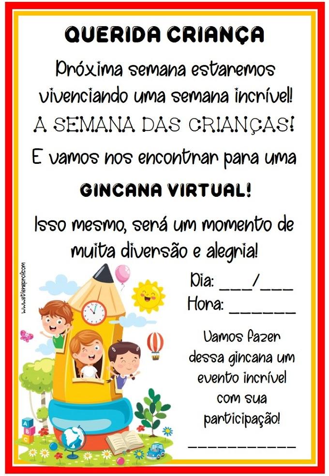 Convite: Gincana virtual