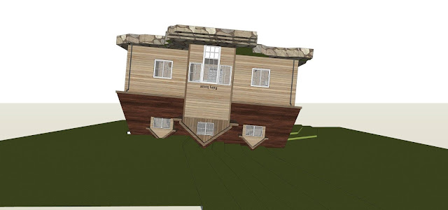 Mô hình thiết kế nhà quay ngược đầu - 02