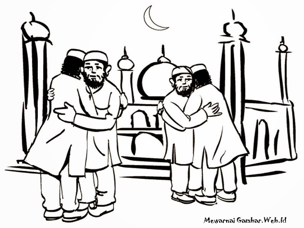 Saling Bermaafan Setelah Shalat Idul Fitri