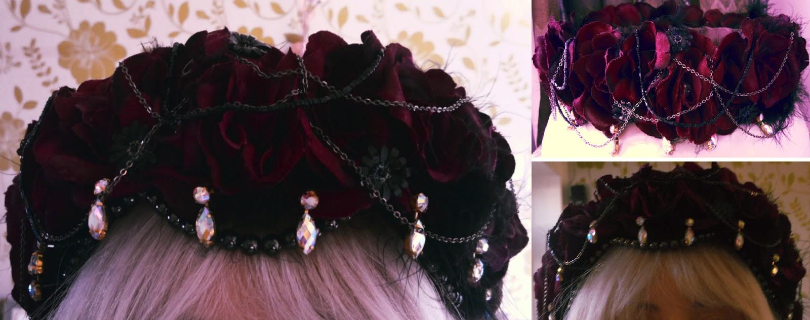 ELLISHA KELLY  Dark Flower Crown ba9227e0432