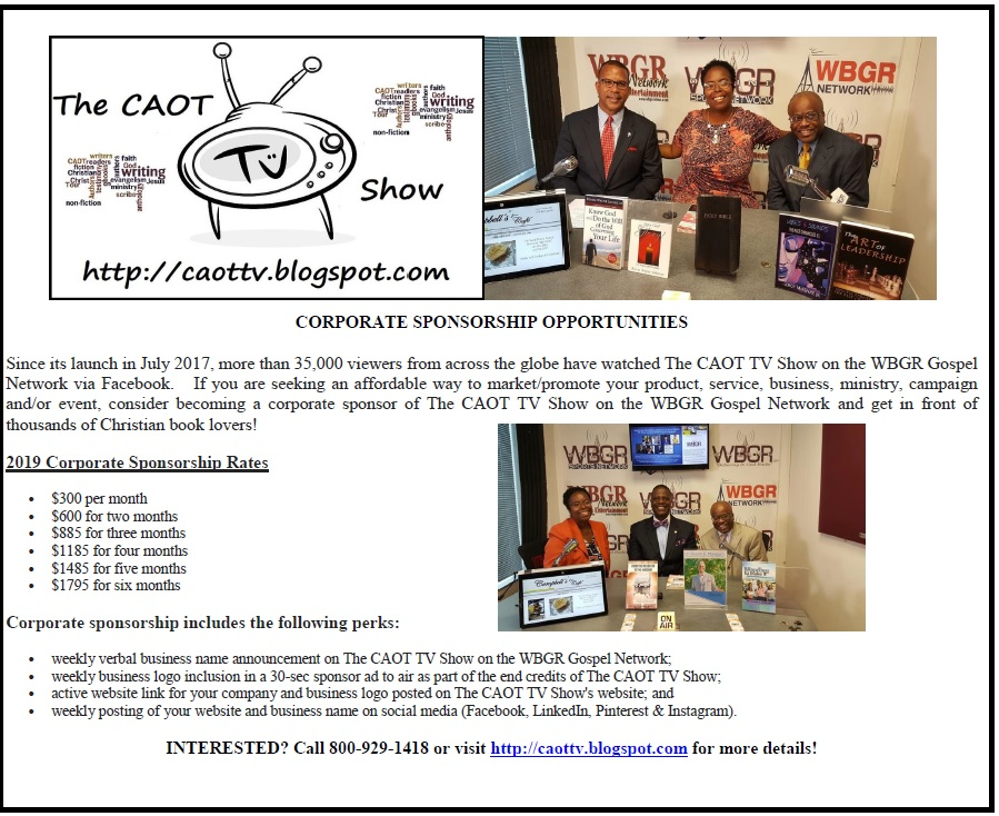 Corporate Sponsorship Rates for The CAOT TV Show