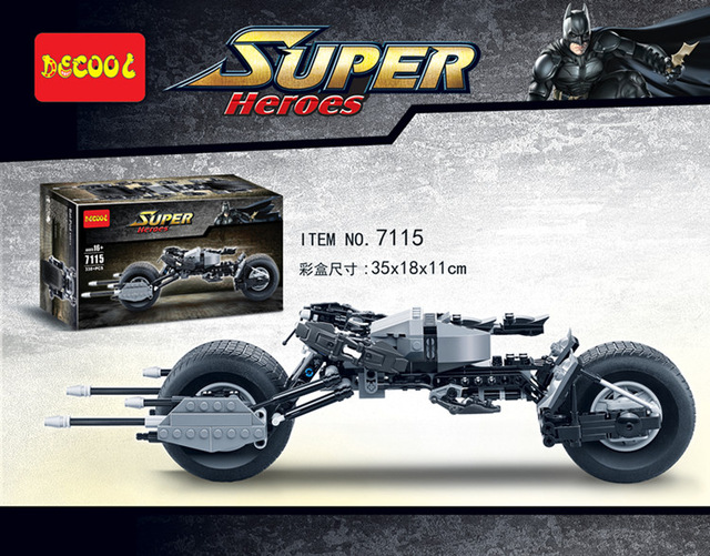 My Brick Store Decool 7115 338pcs Lego Batpod
