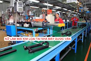 Nữ làm mài kim loại tại nhà máy Dược Vân Đài Bắc ( Pv Skype )