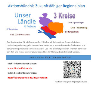 Die Petition für einen Zukunftsfähigen Regionalplan