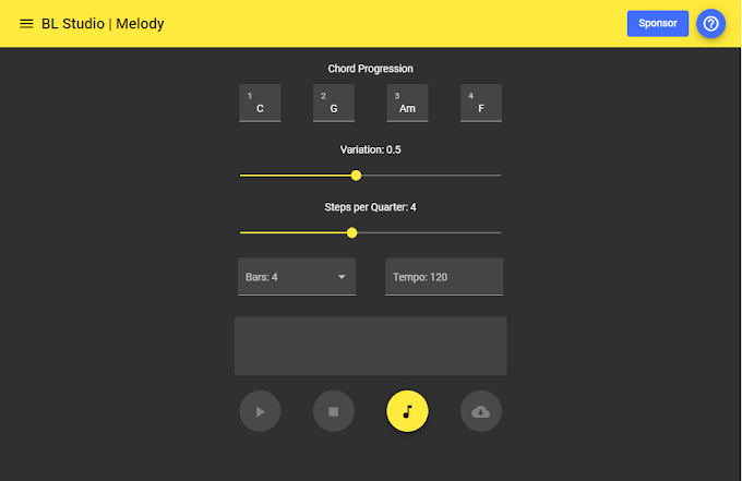 Generate a Melody with AI - BL Studio Melody